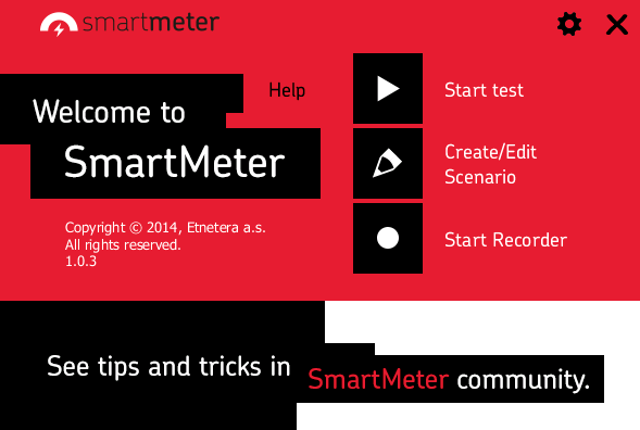 SmartMeter welcome screen